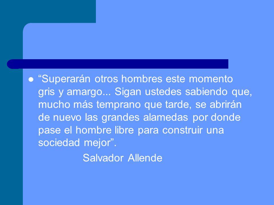 Actualidad Frente al palacio de La moneda se conserva una estatua de Allende.