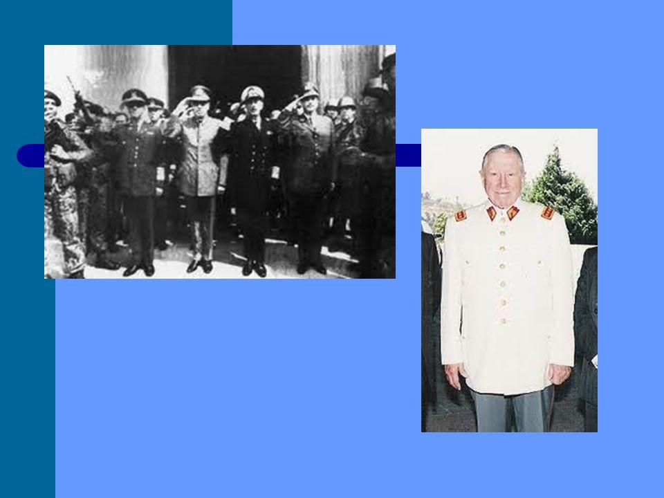 Webgrafía http://www.biografiasyvidas.com/biografia/p/pinochet.htm http://www.icarito.cl/enciclopedia/articulo/segundo-ciclo-basico/historia- geografia-y-ciencias-sociales/historia-de-chile-siglo-xx-hasta-nuestros- tiempos/2009/12/407-5260-9-gobierno-de-salvador-allende-gossens- 19701973.shtml http://es.wikipedia.org/wiki/Golpe_de_Estado_en_Chile_de_1973 http://redescolar.ilce.edu.mx/redescolar/act_permanentes/historia/html/11_sep_ 73/golpe.htm http://bloguerosrevolucion.ning.com/profiles/blogs/la-dictadura-de-pinochet-que http://es.wikipedia.org/wiki/Estado_de_sitio http://www.buenastareas.com/ensayos/La-Represion-En-Chile-Bajo- Pinochet/2056172.html http://www.portalplanetasedna.com.ar/seres_crueles16.htm http://es.wikipedia.org/wiki/La_casa_de_los_esp%C3%ADritus