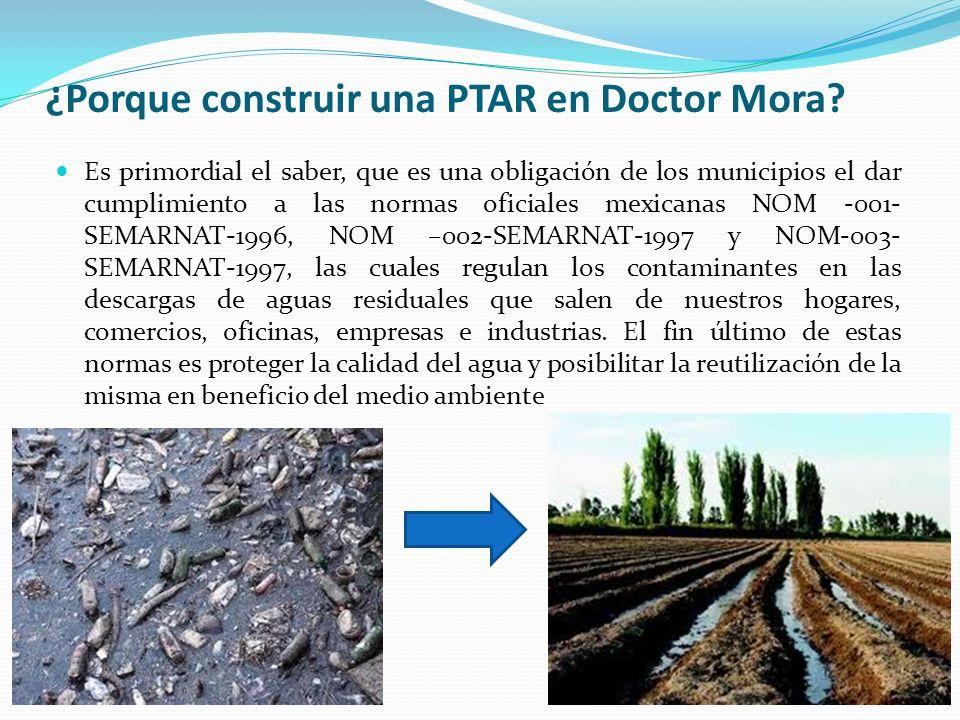 ¿Porque construir una PTAR en Doctor Mora? Es primordial el saber, que es una obligación de los municipios el dar cumplimiento a las normas oficiales