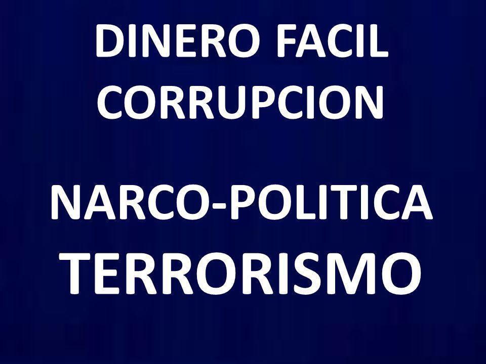 DINERO FACIL CORRUPCION NARCO-POLITICA TERRORISMO