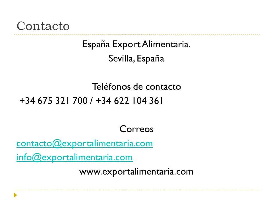 Contacto España Export Alimentaria.