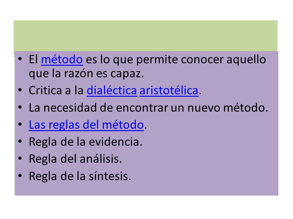 COMENTARIOS A LA 2ª PARTE Regla de la enumeración.