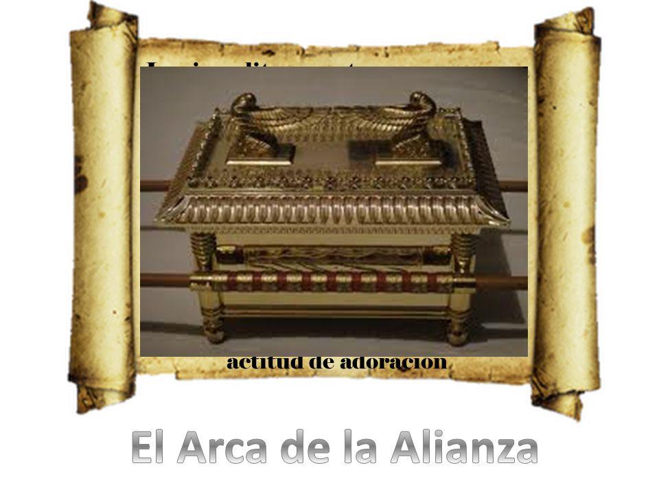 Los israelitas construyeron un arca para guardar en ella las Tablas de la Ley. El Arca de la Alianza simboliza la presencia de Dios en medio de su pue