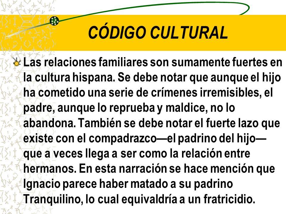 CÓDIGO CULTURAL Las relaciones familiares son sumamente fuertes en la cultura hispana.