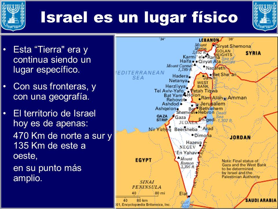 Israel es un lugar físico Esta Tierra