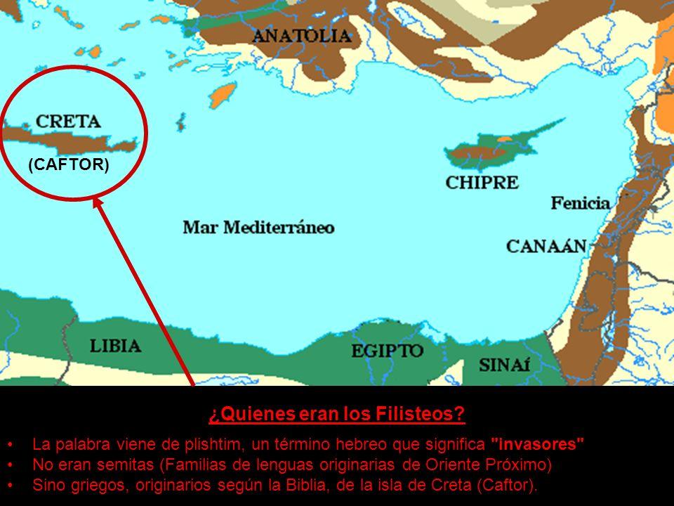 ¿Quienes eran los Filisteos? La palabra viene de plishtim, un término hebreo que significa