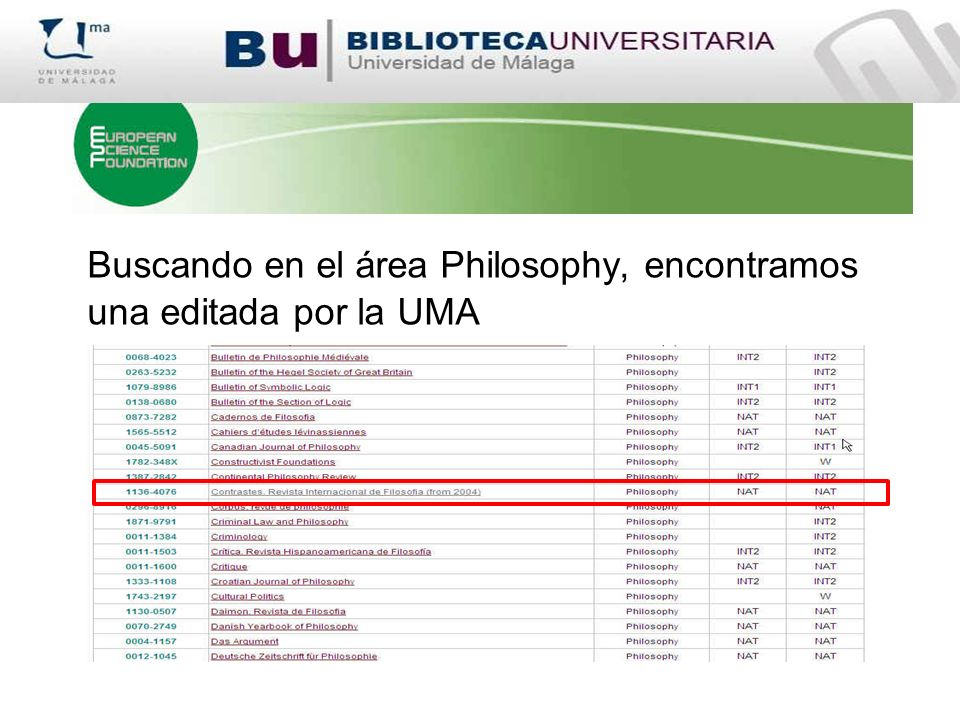 Buscando en el área Philosophy, encontramos una editada por la UMA