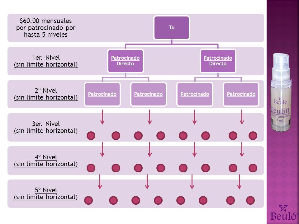 5º Nivel (sin límite horizontal) 4º Nivel (sin límite horizontal) 3er.