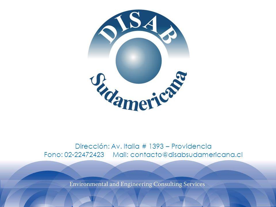 Dirección: Av. Italia # 1393 – Providencia Fono: 02-22472423 Mail: contacto@disabsudamericana.cl