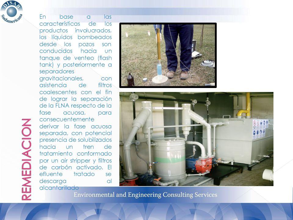 En base a las características de los productos involucrados, los líquidos bombeados desde los pozos son conducidos hacia un tanque de venteo (flash ta