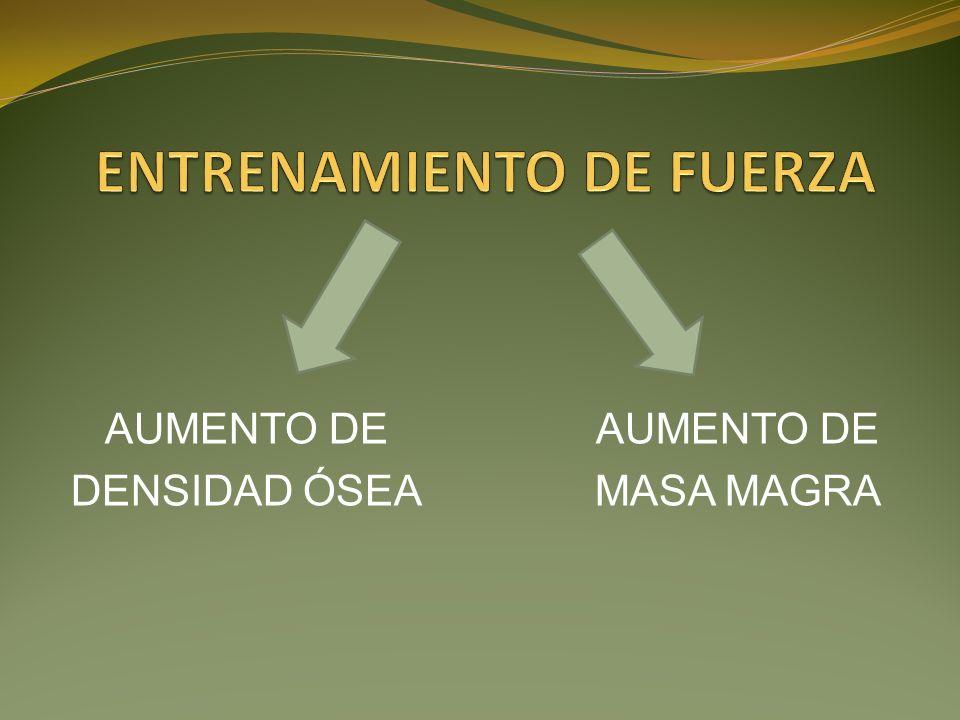 AUMENTO DE DENSIDAD ÓSEA AUMENTO DE MASA MAGRA