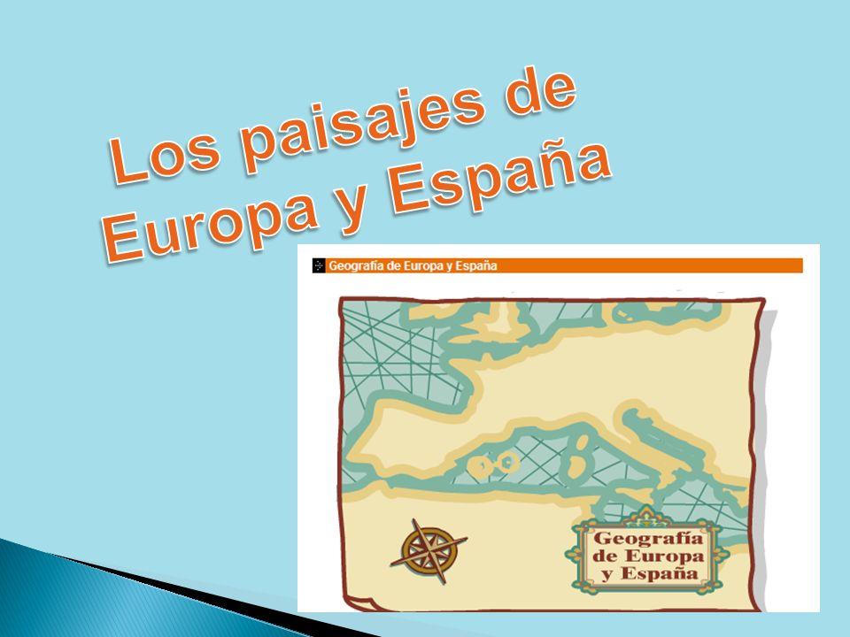 ÍNDICE 1.El Relieve de Europa: Situación de Europa Las llanuras y las montañas.