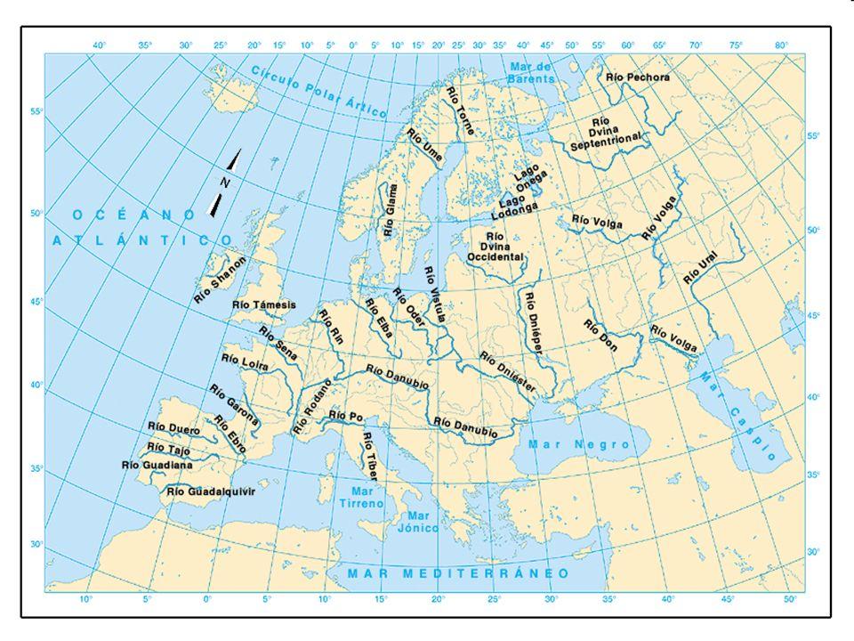 VERTIENTE ÁRTICA Son los ríos que desembocan en el océano Glacial Ártico.