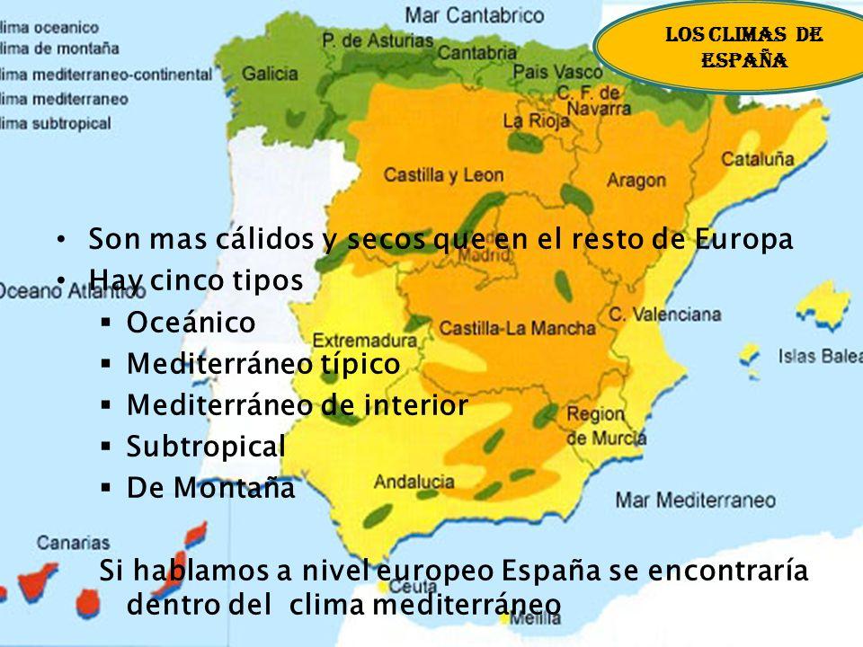 Las Islas: En el norte, Islandia. En el centro, Gran Bretaña e Irlanda. En el sur, entre otras, las islas Baleares, Córcega, Cerdeña, Sicilia, Chipre,