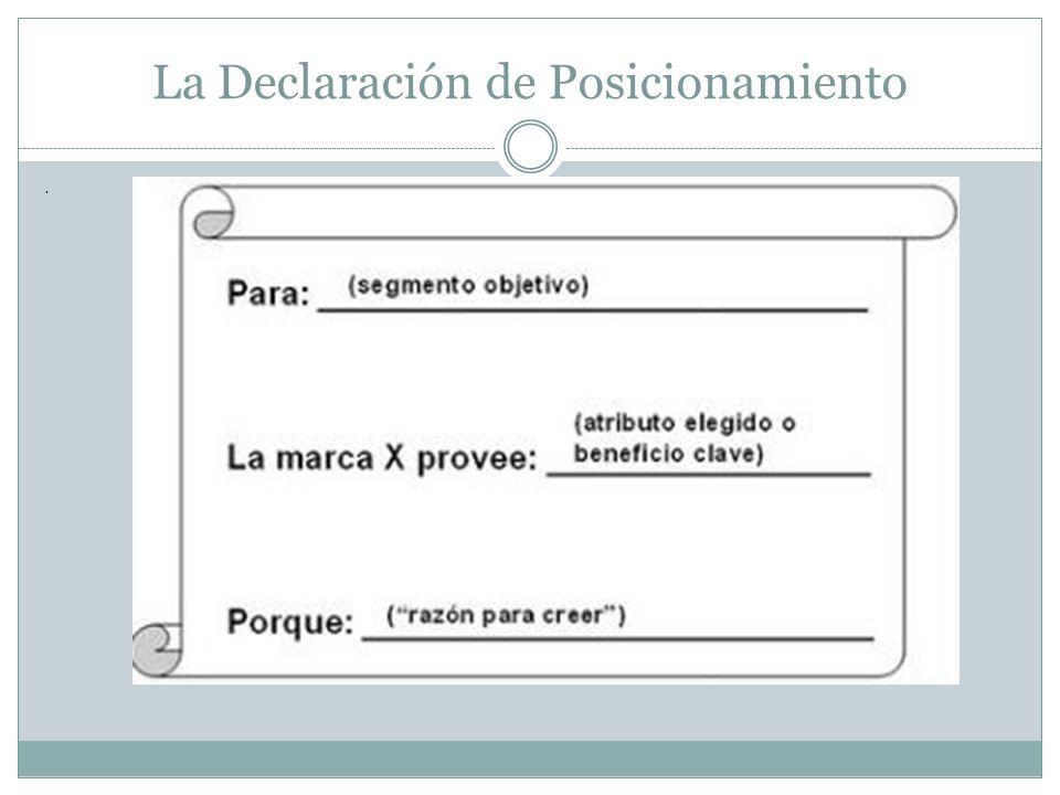 La Declaración de Posicionamiento.