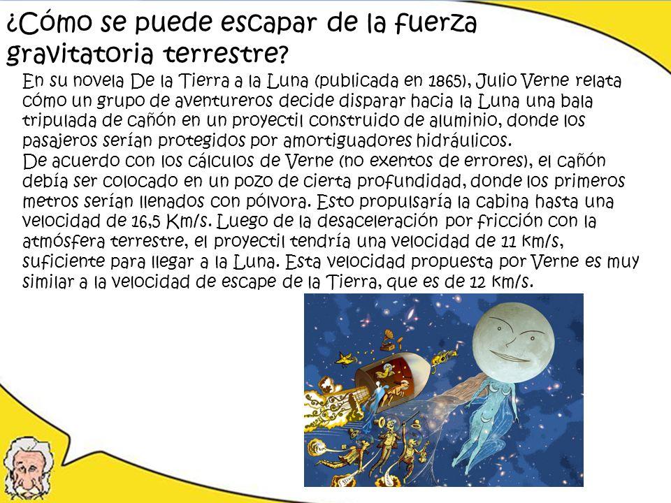 En su novela De la Tierra a la Luna (publicada en 1865), Julio Verne relata cómo un grupo de aventureros decide disparar hacia la Luna una bala tripul