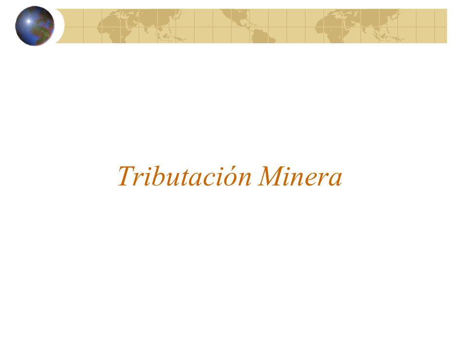 Tributación Minera