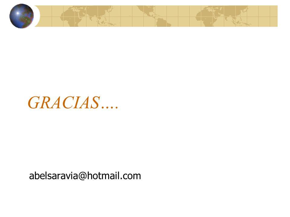 GRACIAS…. abelsaravia@hotmail.com