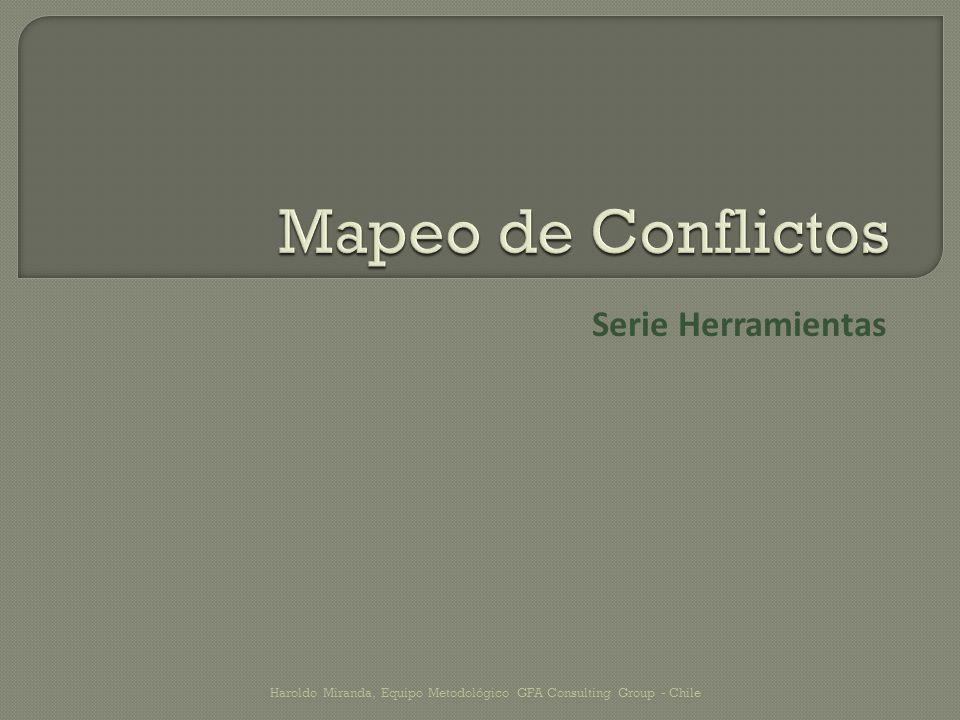 Para entender una situación conflictiva debemos analizarlo mediante la técnica del mapeo, que proporciona al conciliador y a las partes una idea más clara del origen del conflicto y las posibilidades de resolución del conflicto.