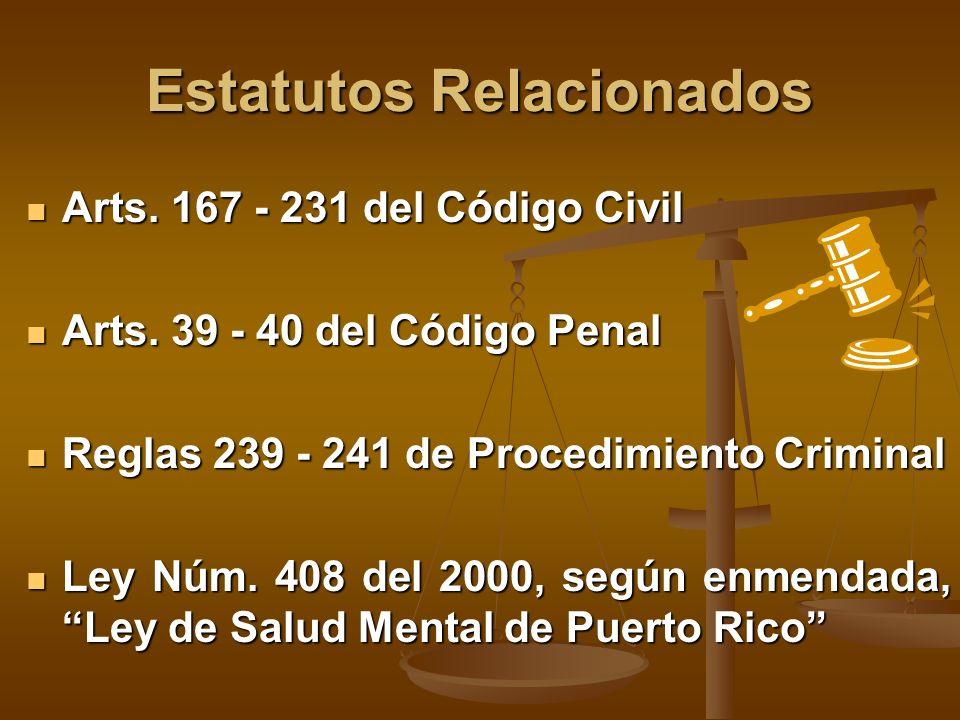 Estatutos Relacionados Arts.167 - 231 del Código Civil Arts.
