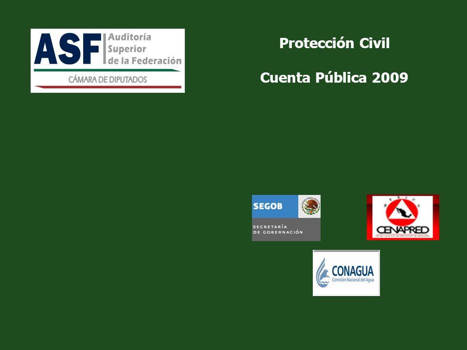 Protección Civil Cuenta Pública 2009