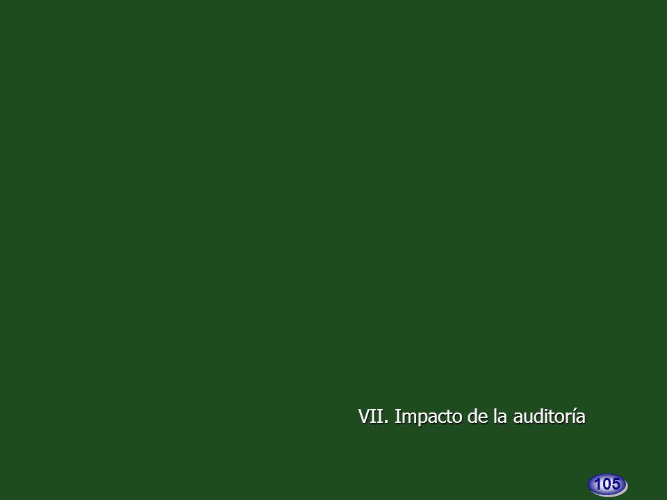 VII. Impacto de la auditoría 105