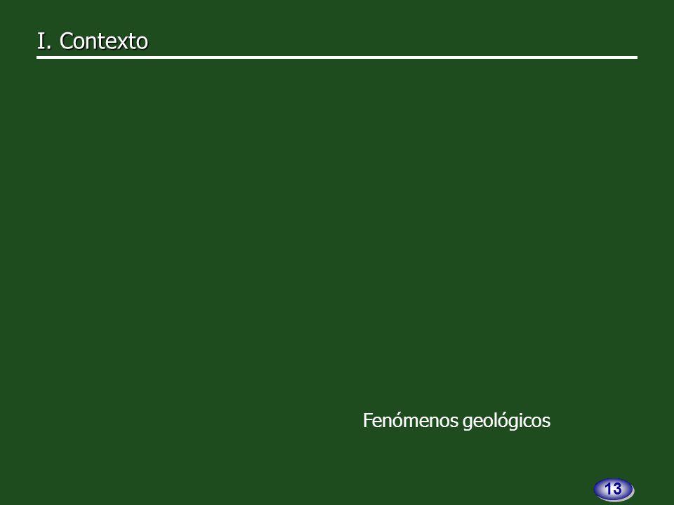 Fenómenos geológicos I. Contexto I. Contexto 13