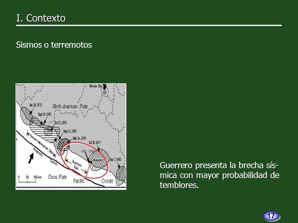 Guerrero presenta la brecha sís- mica con mayor probabilidad de temblores Guerrero presenta la brecha sís- mica con mayor probabilidad de temblores.