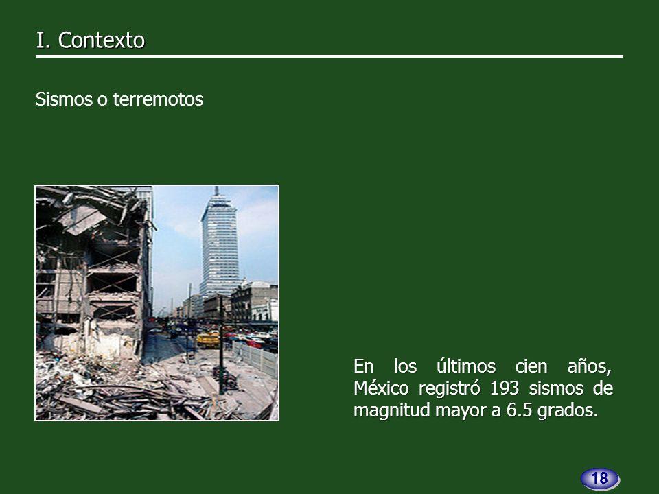 En los últimos cien años, México registró 193 sismos de magnitud mayor a 6.5 grados.
