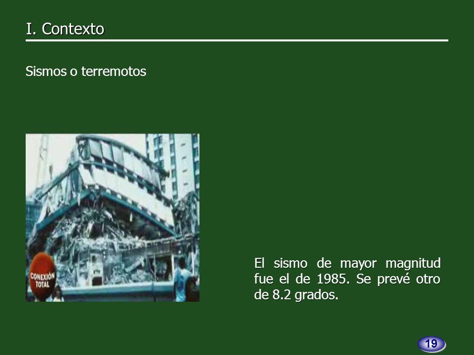 El sismo de mayor magnitud fue el de 1985.