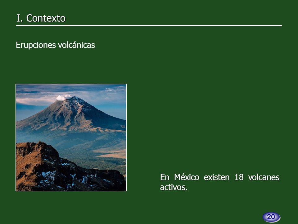 En México existen 18 volcanes activos En México existen 18 volcanes activos.
