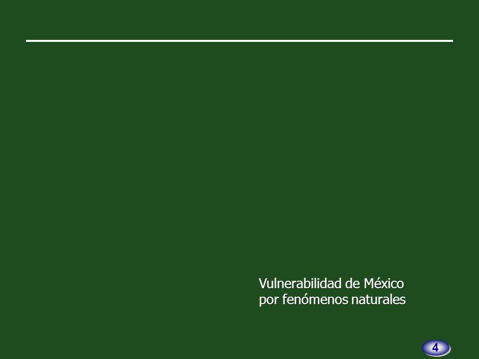 México es afectado por la movi- lidad de cinco placas tectónicas.