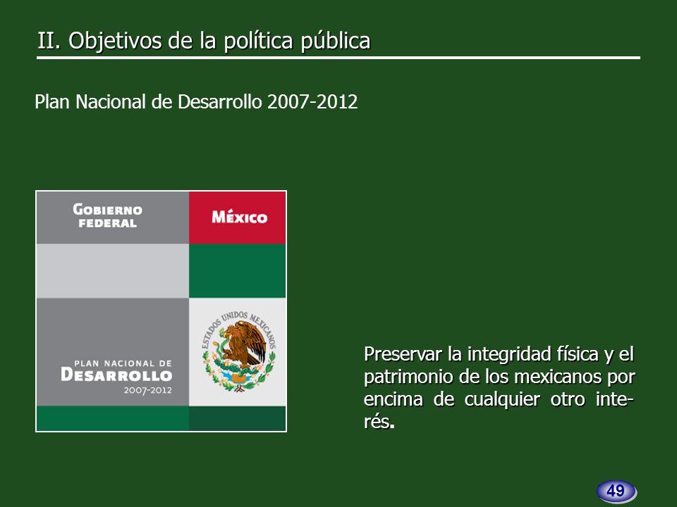 II. Objetivos de la política pública II.