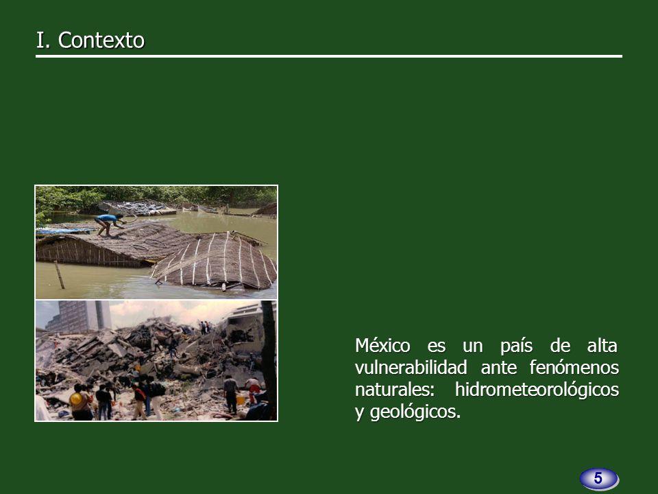 I. Contexto I. Contexto Fenómenoshidrometeorológicos 6 6