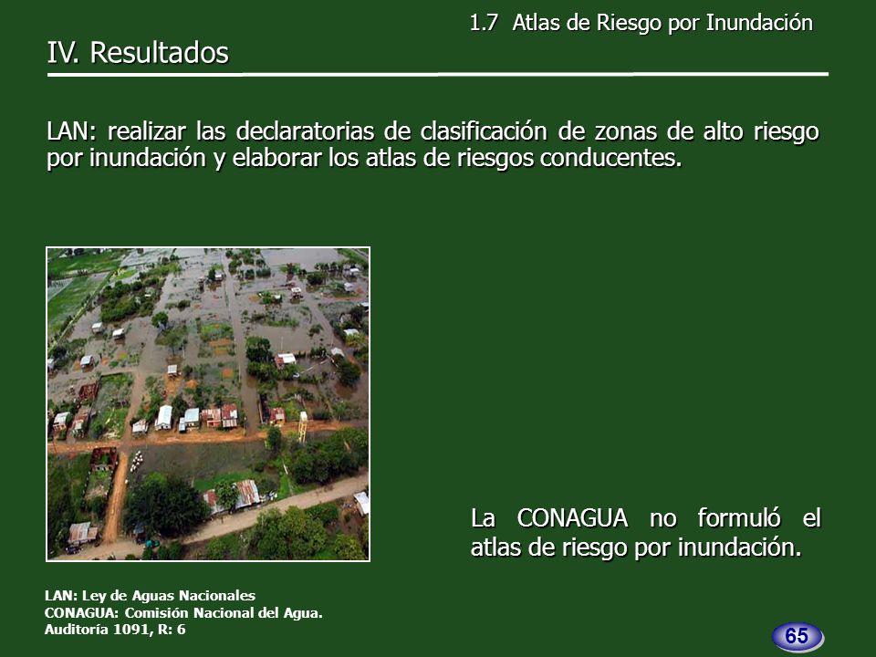 La CONAGUA no formuló el atlas de riesgo por inundación.