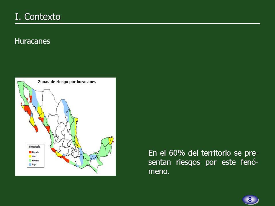 El 50.0% de las entidades fede- rativas contó con un programa estatal para desastres hidrome- teorológicos.