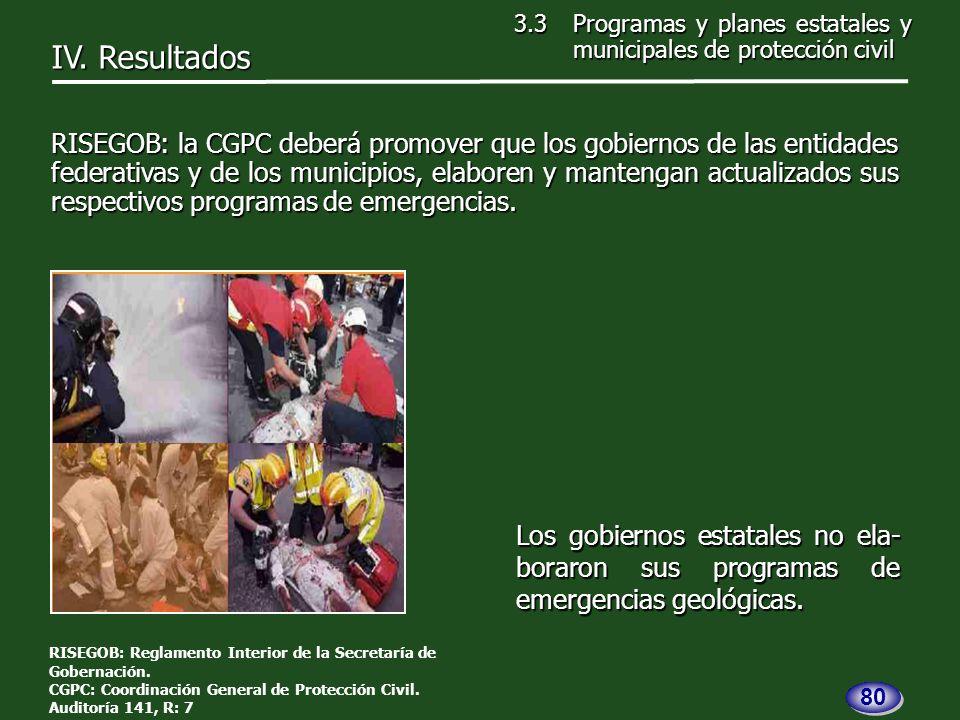 Los gobiernos estatales no ela- boraron sus programas de emergencias geológicas.