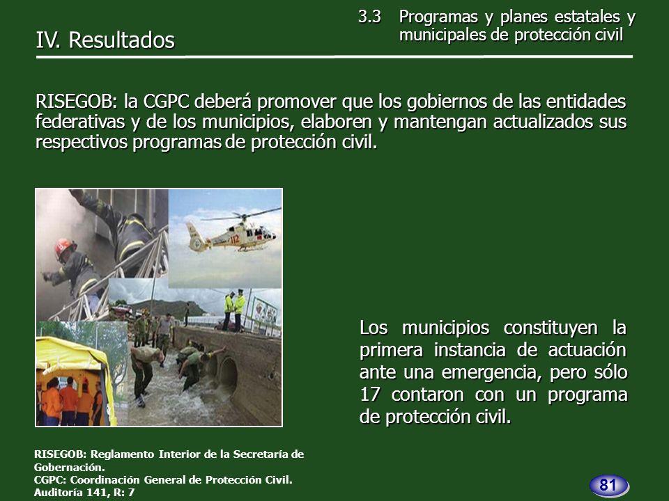 Los municipios constituyen la primera instancia de actuación ante una emergencia, pero sólo 17 contaron con un programa de protección civil.