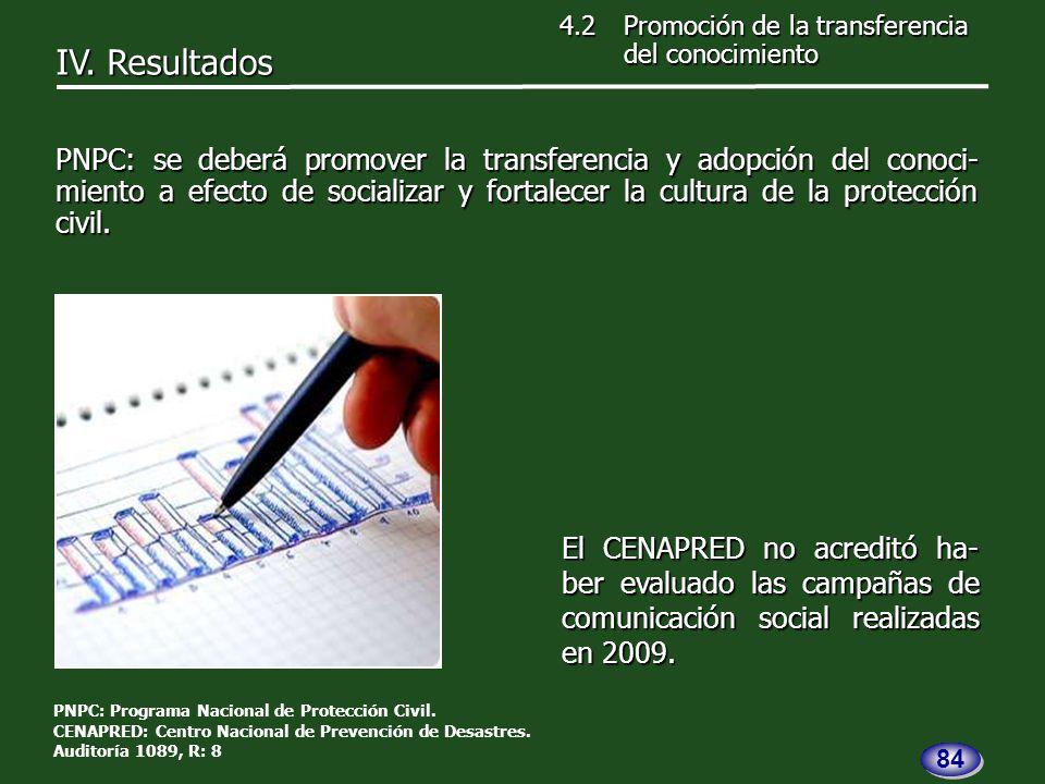 El CENAPRED no acreditó ha- ber evaluado las campañas de comunicación social realizadas en 2009.