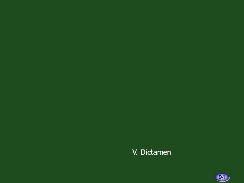 V. Dictamen 94