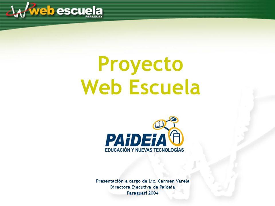 Proyecto Web Escuela Presentación a cargo de Lic.