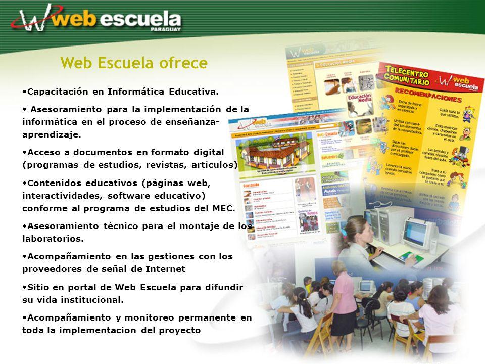Web Escuela ofrece Capacitación en Informática Educativa.
