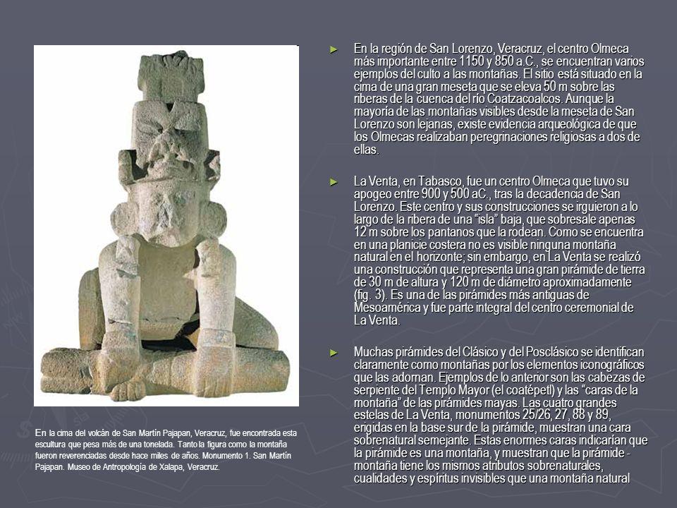 En la cima del volcán de San Martín Pajapan, Veracruz, fue encontrada esta escultura que pesa más de una tonelada. Tanto la figura como la montaña fue