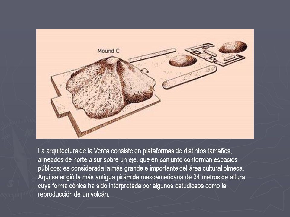 Cabezas colosales Olmecas: Es tal la cantidad de escultura monumental en el área del golfo, que se puede señalar que allí se originó esa práctica cultural.