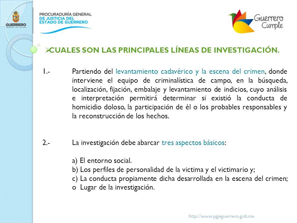 http://www.pgjeguerrero.gob.mx 3.-La actuación se ajustara de acuerdo a cada caso en particular, como pueden ser: a) Hechos violentos dentro del núcleo familiar.