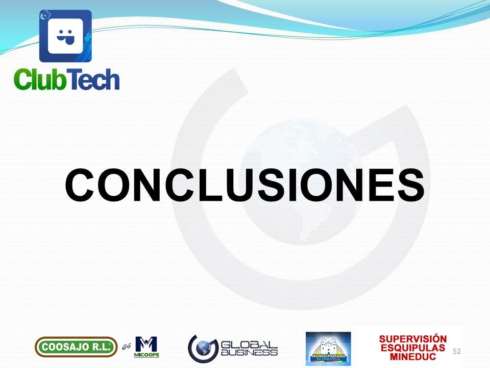 CONCLUSIONES 52