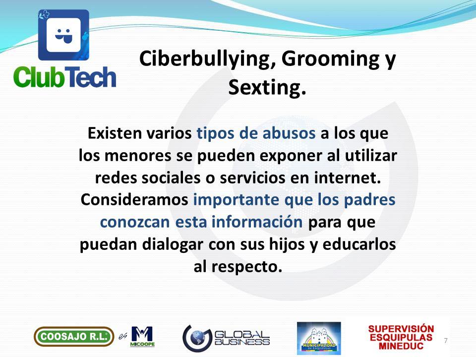 Existen varios tipos de abusos a los que los menores se pueden exponer al utilizar redes sociales o servicios en internet. Consideramos importante que