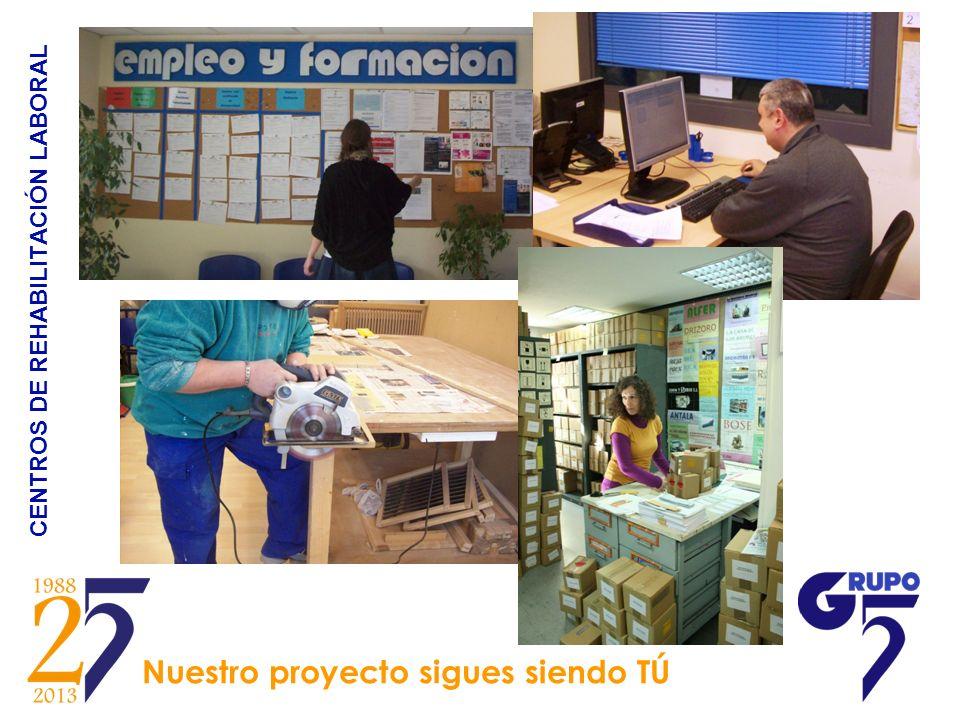 CENTROS DE REHABILITACIÓN LABORAL Nuestro proyecto sigues siendo TÚ