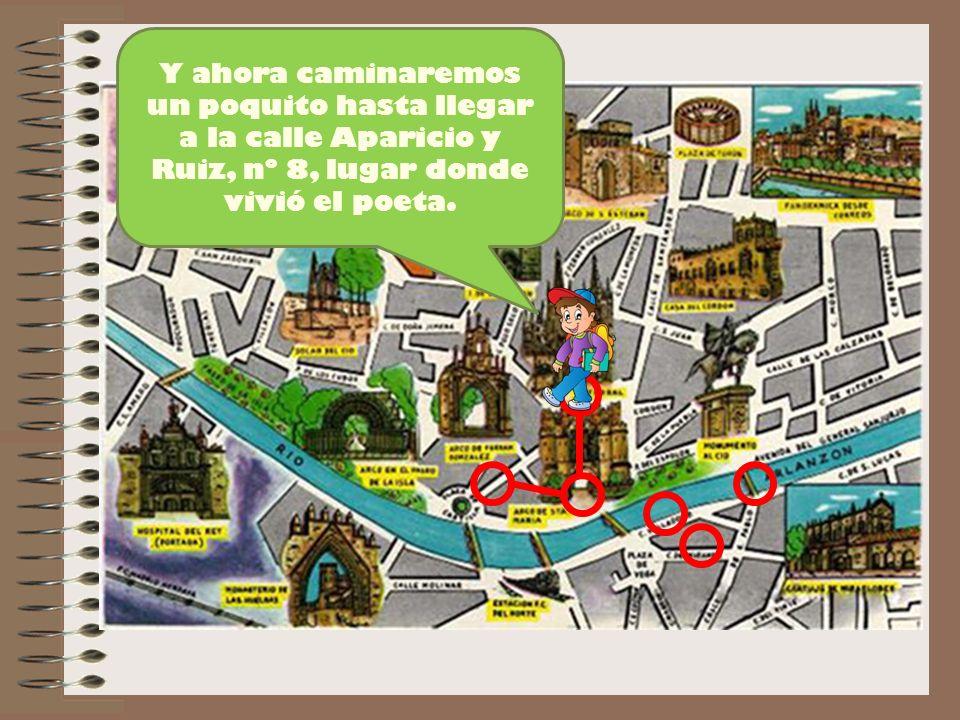 Manuel visitaba Burgos con frecuencia y dedicó este poema a la ciudad en julio de 1935.