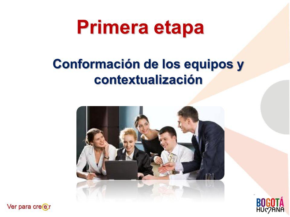 Primera etapa Conformación de los equipos y contextualización